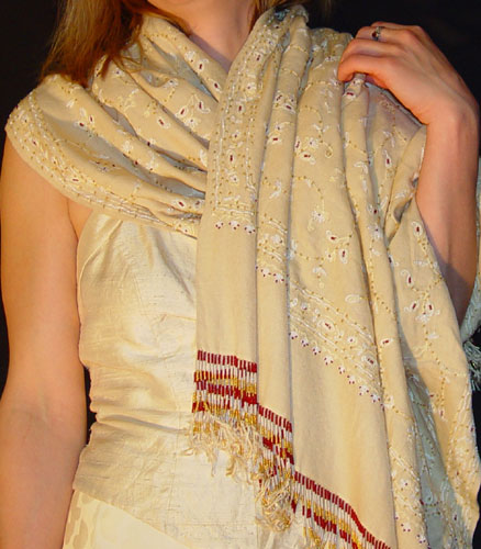 Kanya Devi with beaded accents and fringes,3