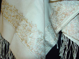 pashmina shawl with emparata embroidery