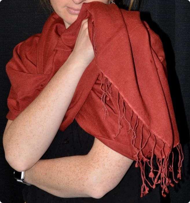 pashmina-silk shawl in marsala from Sunrise Pashmina
