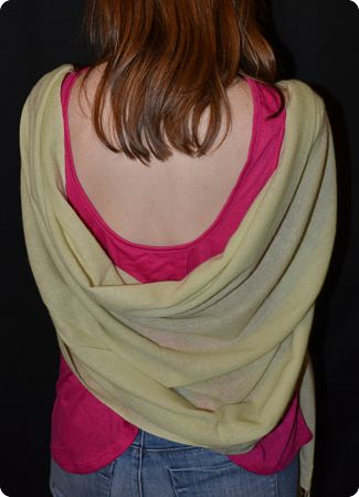 (VIS #Sft-14L) Sunrise Pashmina 100% cashmere shawl,  Light Sage, basic weave,  tasseled fringe