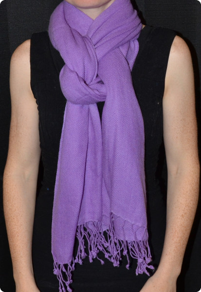 100% pashmina medium-size shawl in radiant orchid (thread color #)