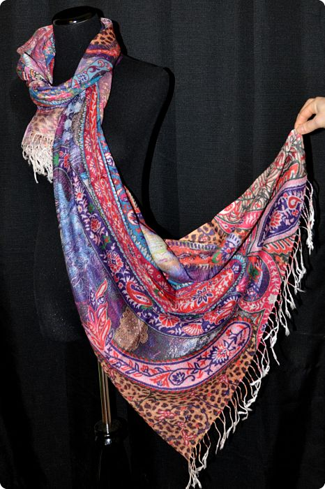 VIS #901 medium size modal shawl with digital print