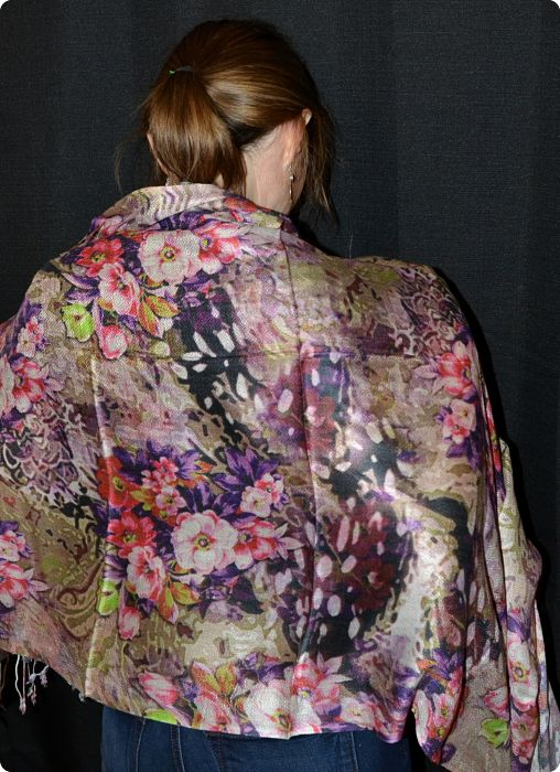 VIS #903 medium size modal shawl with digital print