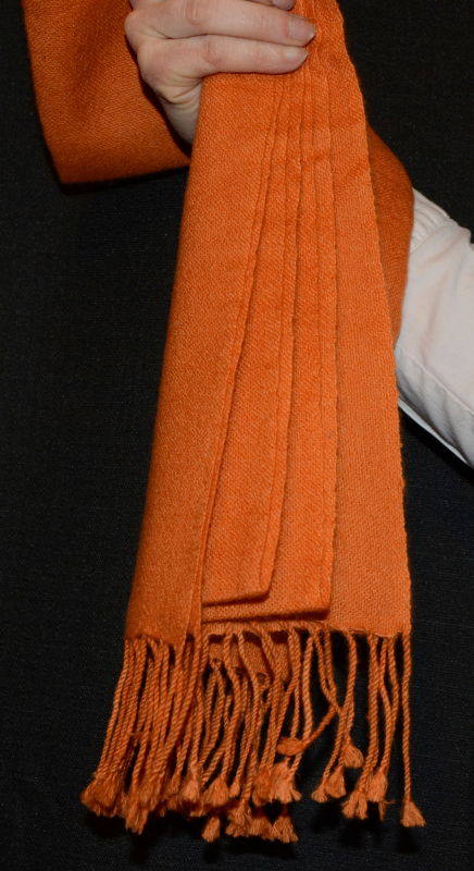 Oversize muffler, double-ply 100% pashmina, basic weave; thread color #77