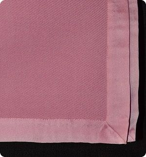100% pashmina baby blanket<br> in Pink, with satin border