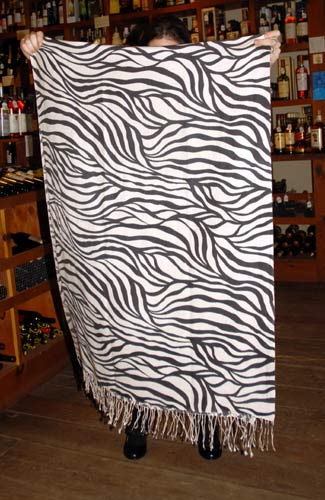 pashmina shawl with zebra print